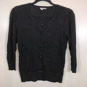 Halogen Black Button Up Cardigan